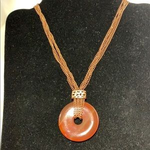 Jewelry - COOKIE LEE COPPERTONE & REAL CARNELIAN NECKLACE